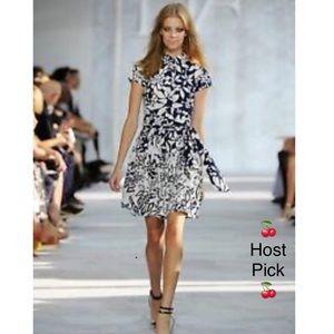 DIane Von Furstenberg Cotton Scarlet Dress Sz 6